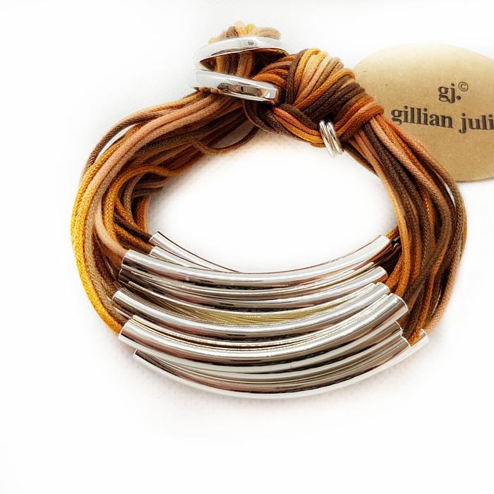 ombre cords in tones oof orange and rust