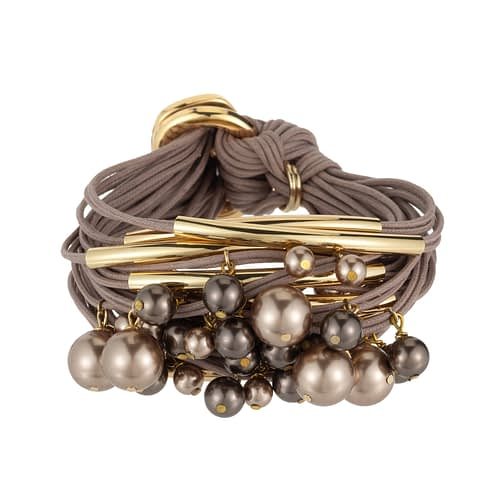tonal taupe crystal pearls