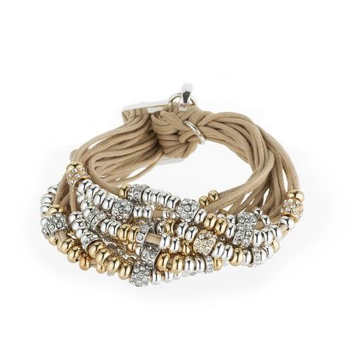 Gold and silver crystal rondel barcelet