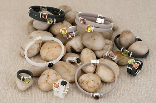 silicone, rings, bracelets , crystals